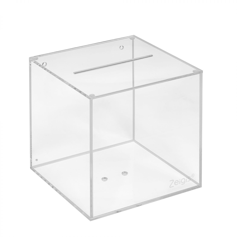 Losbox aus Acrylglas 150x150x150mm / Aktionsbox /Acrylbox ...
