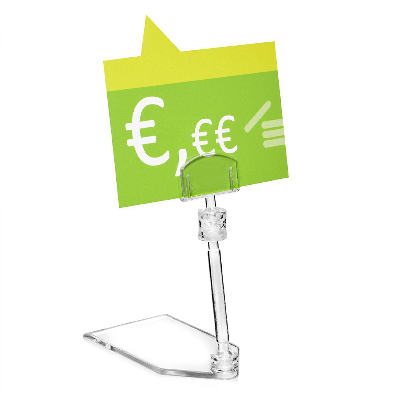 10 Stück Preisschildhalter / Schildhalter transparent zum Stellen | eBay