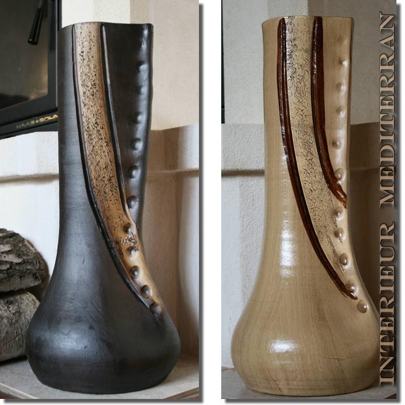 Bodenvase Groß bodenvase vase dekovase 50cm groß amphore handarbeit mediterran