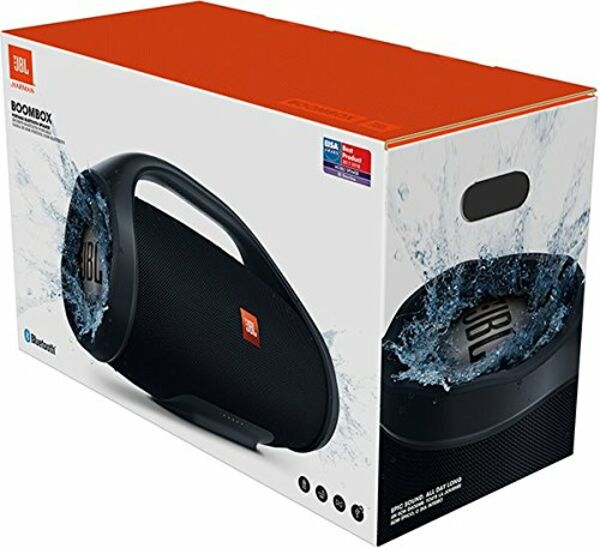 jbl boombox bluetooth lautsprecher schwarz wasserdicht. Black Bedroom Furniture Sets. Home Design Ideas