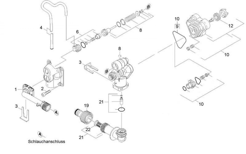 Kärcher Ersatzteile für K3 1.603-813.0 Steuerkopf Anschluß ...