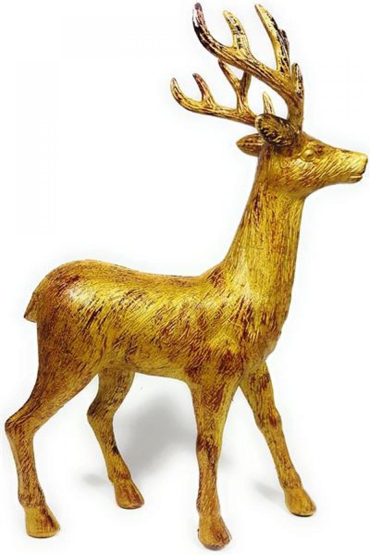 hirsch deko figur gold gro weihnachtsdeko rentier modern design ca 45cm hoch ebay. Black Bedroom Furniture Sets. Home Design Ideas