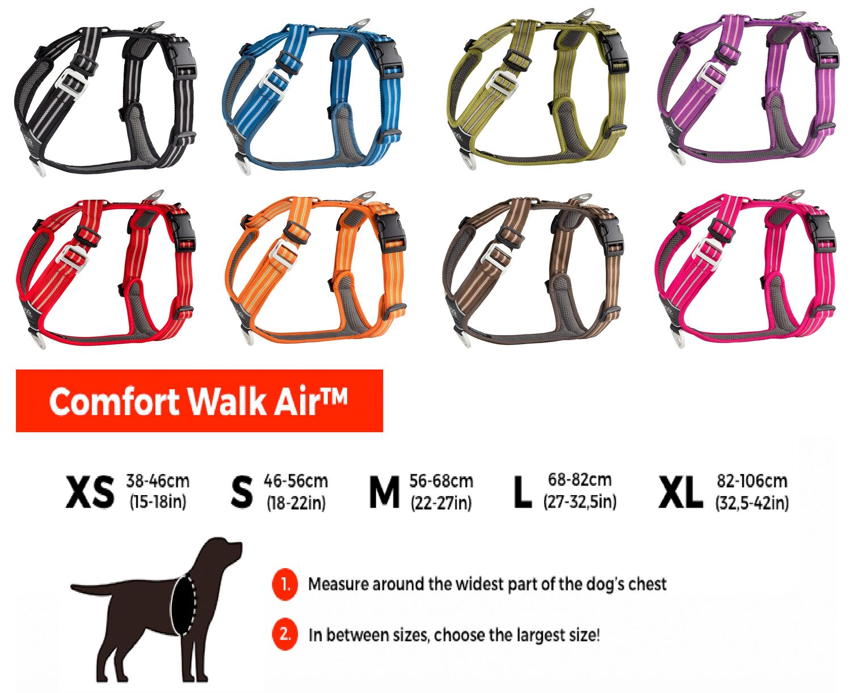 DOG Copenhagen Comfort Walk Air Harness Brustgeschirr Geschirr Hundegeschirr Gepolstert Kleine Mittelgro/ße Gro/ße Hunde