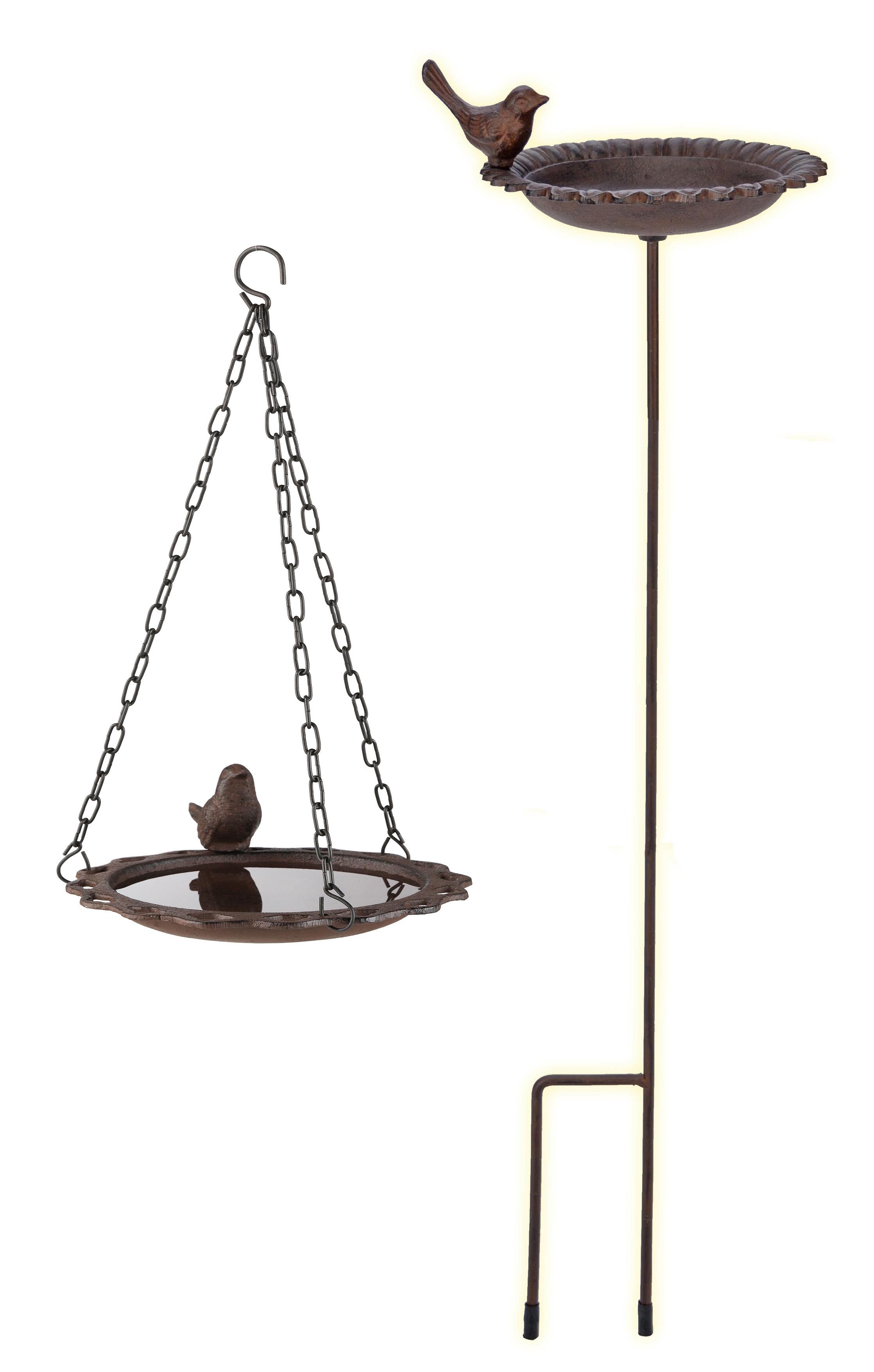 Détails sur Vasque à Oiseaux Suspendues debout Connecteur Barre métal fonte  oiseaux fontaine jardin- afficher le titre d\'origine