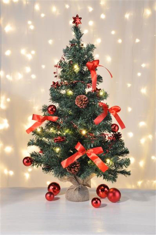 Künstlicher Weihnachtsbaum 75cm Dekobaum Tannenbaum 20LED Batterie v ...