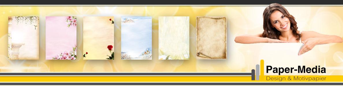 Motiv-Briefpapier BLAUE HORTENSIEN DIN A5 Format 50 Blatt