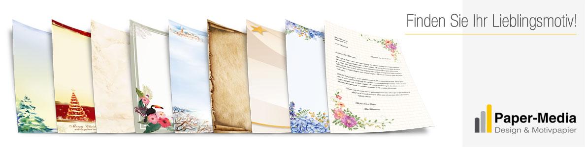Motivpapier SPUREN IM SAND 20 Blatt DIN A4 90g//m²