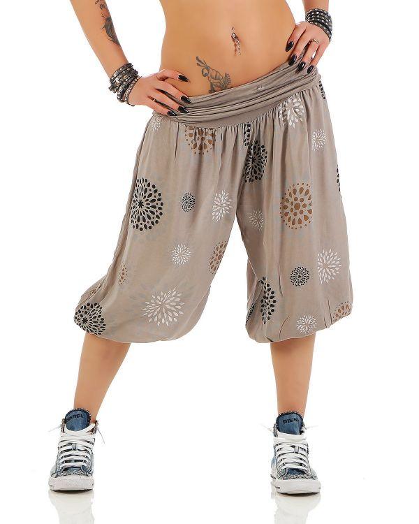 2b1c05e97efc7e Damen 3/4 Pumphose Capri Pluderhose Harem-Stil kurze Sommerhose Yoga  Aladinhose - Bild
