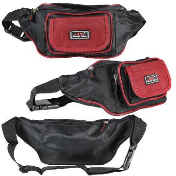 Sporttaschen & Rucksäcke Rot Schwarz Bauchtasche Gürteltasche Hüfttasche Geldtasche Sporttasche Bag Neu