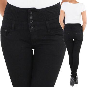 L140 Damen Jeans Hose Hüfthose Damenjeans Hüftjeans Röhrenjeans Röhrenhose Röhre