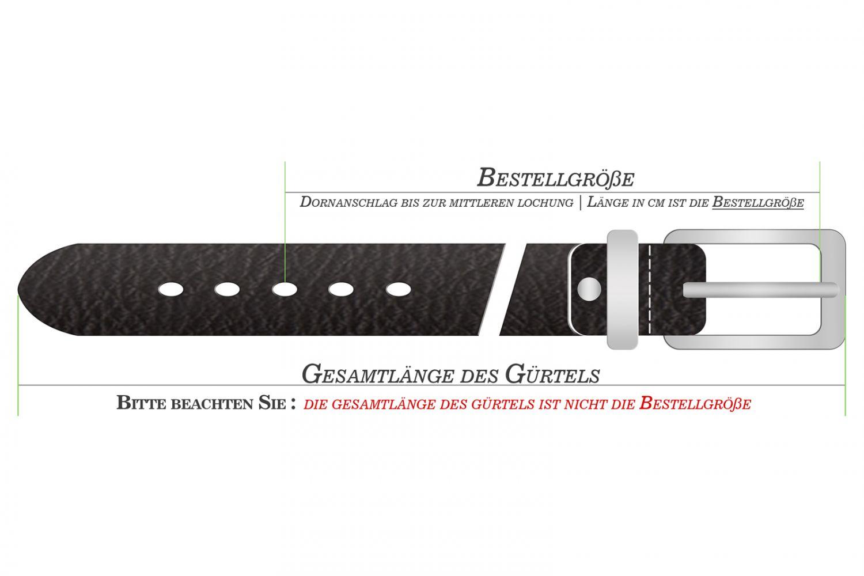 Lindenmann Ledergürtel Herren Leder Vollrindleder 4 cm Breit 0393