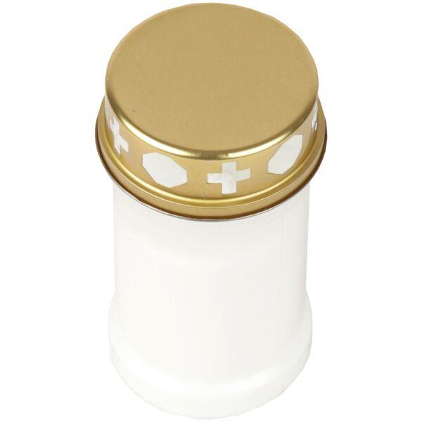 Grabkerze Blanc avec Motif 40 H sépulture grabkerzen ewiglicht grablichter