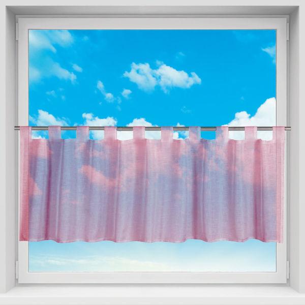 Deko Gardine Store Vorhang In Der Farbe Apricot Weiss