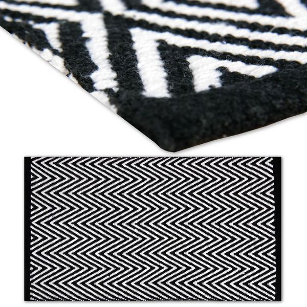 Black And White Rug Ebay Uk: Rug Runner Bedside Rug Living Room Bathroom Decoration