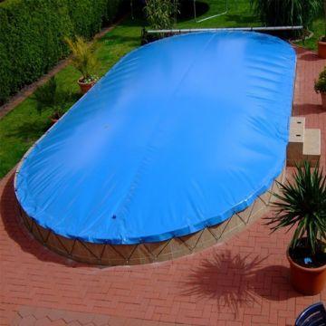 Pool Abdeckplane 5,40 x 3,60 m Abdeckung Plane 5,4 x 3,6 oval