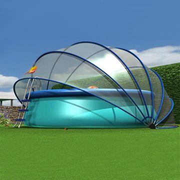 etan sunnytent rund l poolabdeckung pool berdachung solar plane dach pool ebay. Black Bedroom Furniture Sets. Home Design Ideas