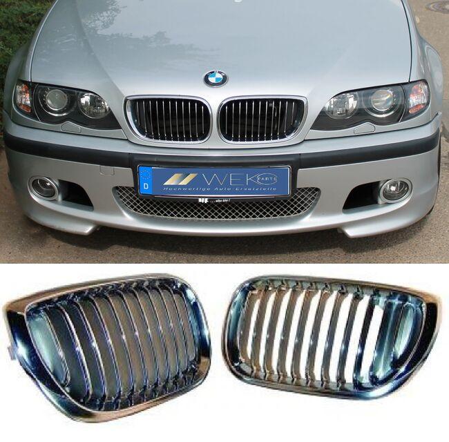 Für BMW E46 3er M Nieren Kühlergrill Grill Schwarz Limousine+Touring Facelift