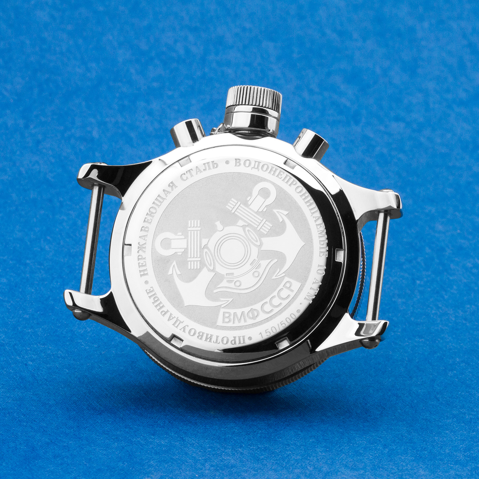 Taucheruhr-POLJOT-Edelstahl-Gehaeuse-Uhrengehaeuse-Diver-watch-case-mvm-3133-31681 Indexbild 4
