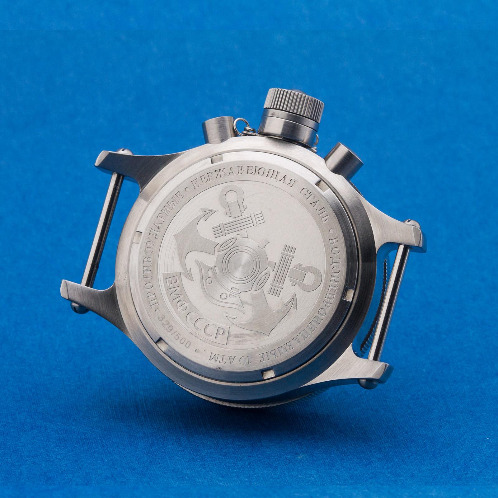 Taucheruhr-POLJOT-Edelstahl-Gehaeuse-Uhrengehaeuse-Diver-watch-case-mvm-3133-31681 Indexbild 7