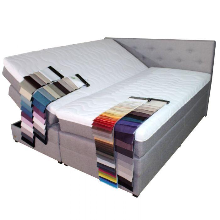 klima boxspringbett mit bettkasten stauraum 200x200 farbwahl matratze topper neu ebay. Black Bedroom Furniture Sets. Home Design Ideas