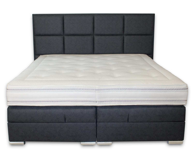 boxspringbett mit bettkasten 100x200 120x200 140x200 160x200 180x200 200x200 neu ebay. Black Bedroom Furniture Sets. Home Design Ideas