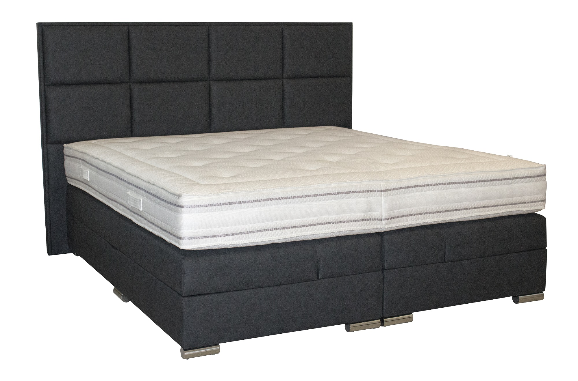 boxspringbett mit bettkasten 100x200 120x200 140x200 160x200 180x200 200x200 neu ebay. Black Bedroom Furniture Sets. Home Design Ideas