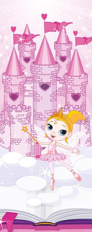 Wandtattoo wandaufkleber wandsticker kinderzimme schloss fee fairy  f011
