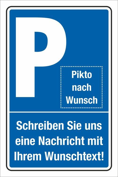 Schild Parkplatz Traktoren 3 mm Alu-Verbund