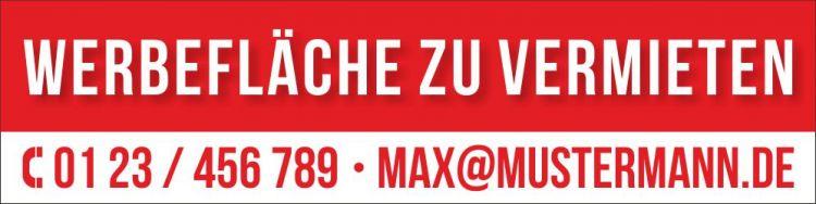 PVC Werbebanner Banner Plane Werbefläche Zu Vermieten Mit Ösen   Bild 1