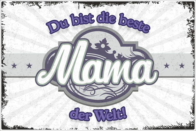 Für die beste Mama Holz Deko Schild mit Spruch