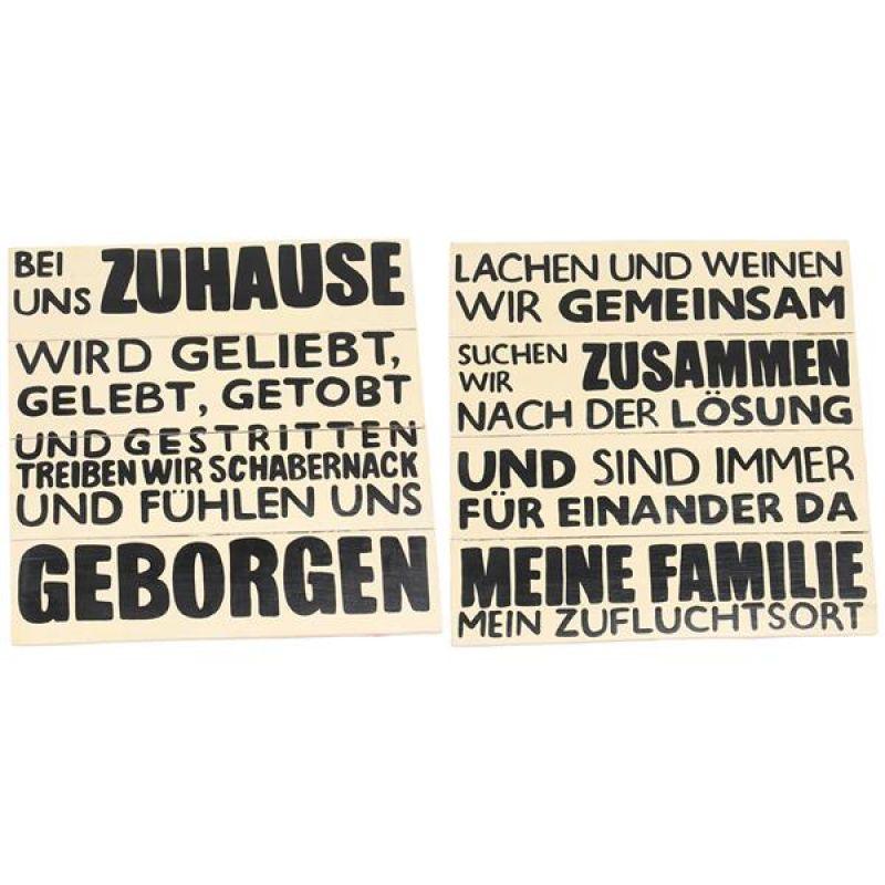 Wandschild Familie Familien Regeln Schild Deko Bild
