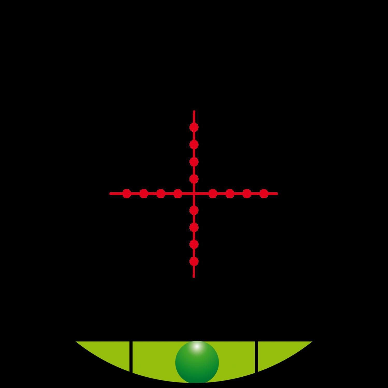 KONUS Zielfernrohr KONUSPRO-M30 1-6x24 beleuchtetes Absehen rot//blau