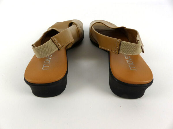 Details zu MOVE ON Damen Schuhe Sandalen Slingback Echtleder cognac Peeptoe Gr. 39
