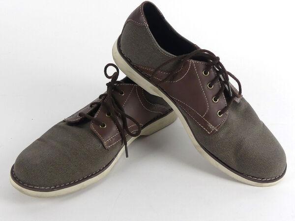 Details zu TIMBERLAND Herren Schuhe Halbschuhe Schnürschuhe TextilLeder braun Gr. 41