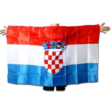 FANSCHAL Kroatien Croatia BALKENSCHAL Fahne Flagge Europameisterschaft