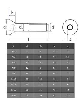 10 St/ück M8x25 Edelstahl A2 V2A DIN 7991 Senkkopf-Schrauben Innensechskant Senkschraube OPIOL QUALITY Senkkopfschrauben