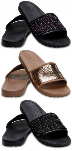 f815a9087 Details about Crocs Sloane Embellished Slide Womens Shoes Slides Sandals