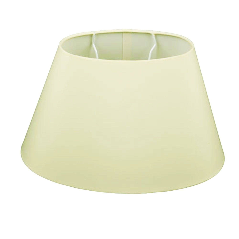 lampenschirm oval creme stoff du20 do15 h13 chintz befestigung unten e27 ebay. Black Bedroom Furniture Sets. Home Design Ideas