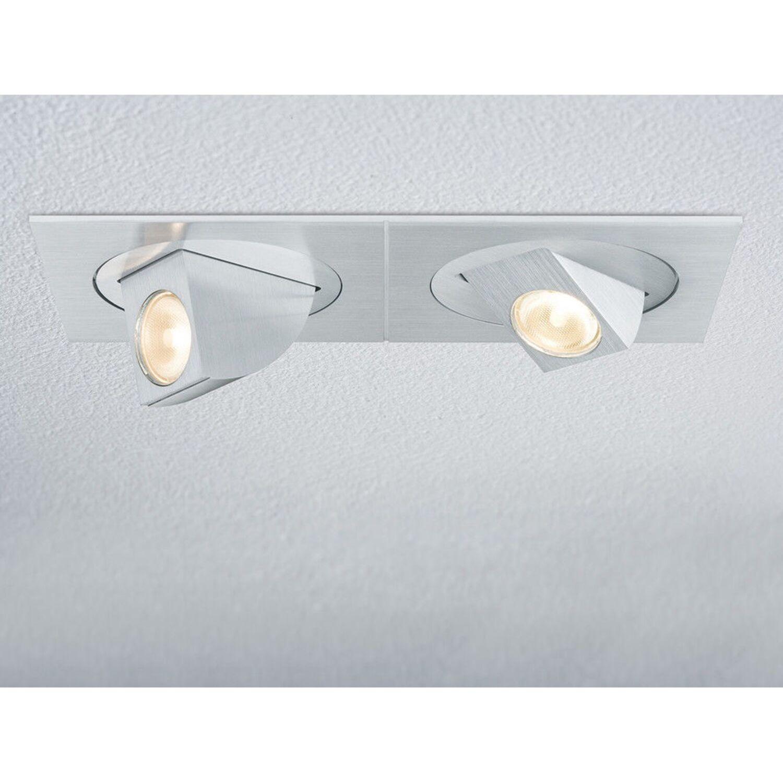 drehbar Alu gebürstet Paulmann 925.46 Premium Line Xara LED Set 2x5W schwenk u