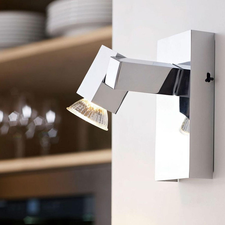 EGLO 92163 Design Decken- und Wandstrahler PIANA inkl Leuchtmittel Chrom