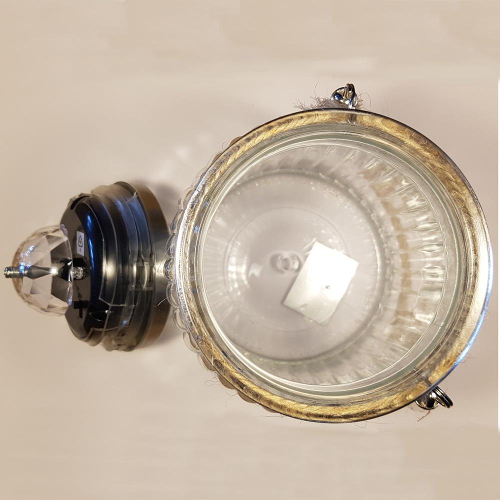LED-Solarleuchte-Solarglas-als-Tischlampe-Deko-fuer-Garten-Terasse-aussen Indexbild 11
