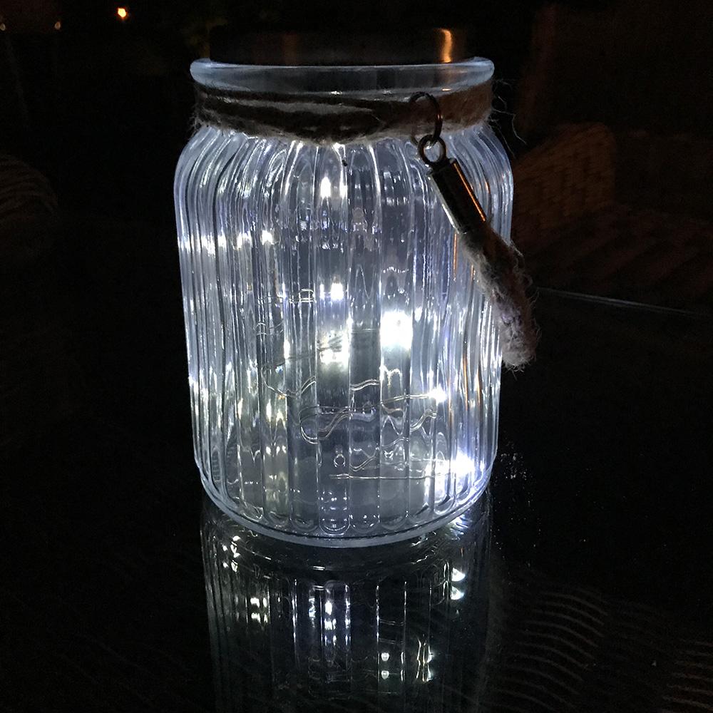 LED-Solarleuchte-Solarglas-als-Tischlampe-Deko-fuer-Garten-Terasse-aussen Indexbild 6