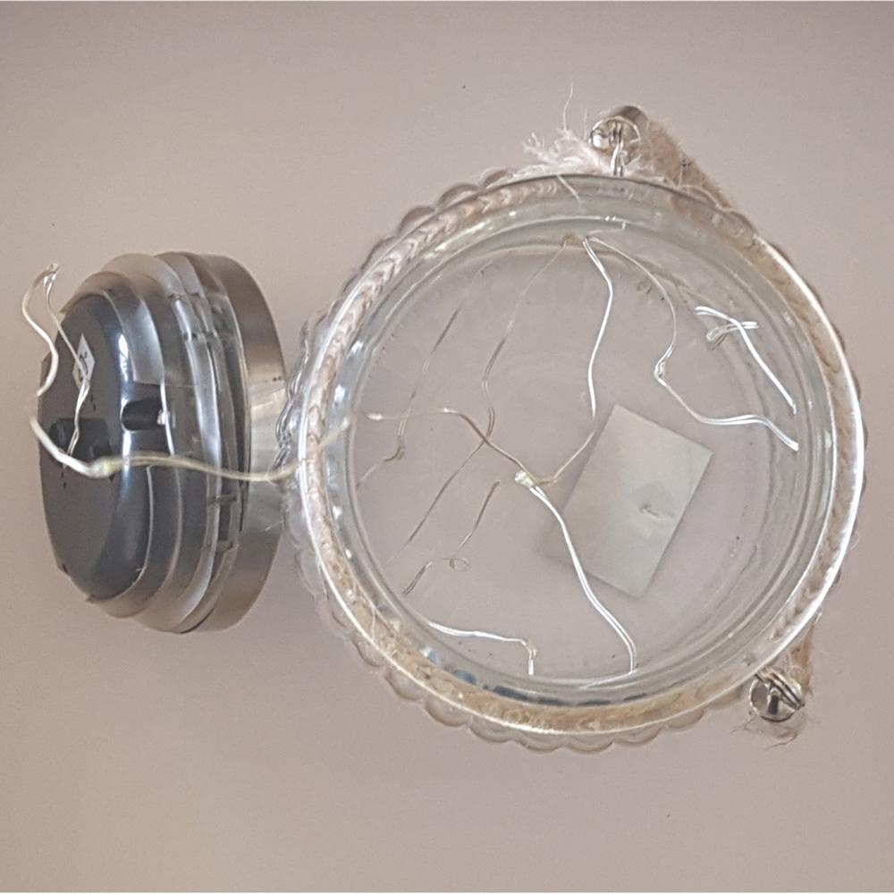 LED-Solarleuchte-Solarglas-als-Tischlampe-Deko-fuer-Garten-Terasse-aussen Indexbild 5