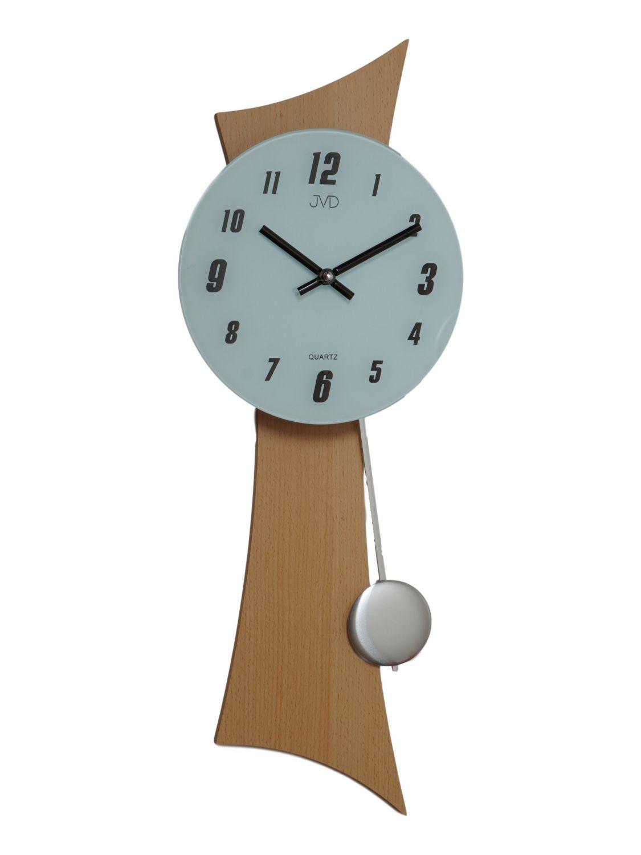 be0e936e0dcf JVD N27004 68 cuarzo de reloj de pared con reloj de péndulo péndulo de  madera con vidrio color haya