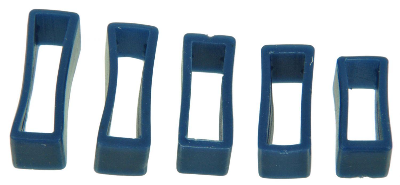 PVC Taucher Uhrenarmband Schlaufen Weiss 16-18-20-22-24mm Armband Band Keepers