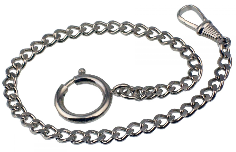 De Bolsillo 3010 25cm 1745 Niquelado Cadena Reloj Collar Detalles Para Nuevo E2HD9I