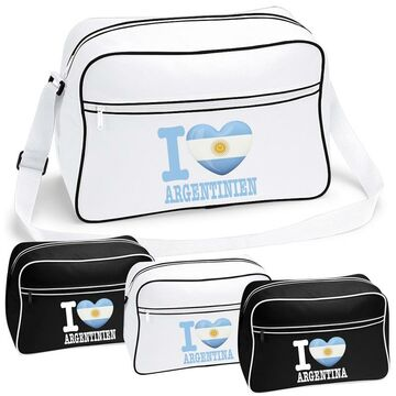 ICELAND FanShirts4u Messenger Bag EM Schule Tasche Uni Liebe I LOVE ISLAND