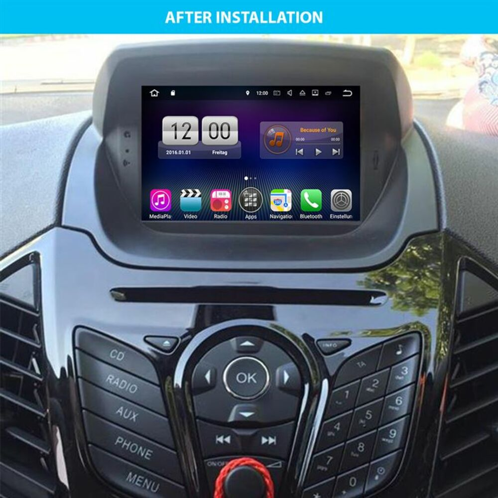ford ecosport android 8 autoradio touchscreen dvd gps navi. Black Bedroom Furniture Sets. Home Design Ideas