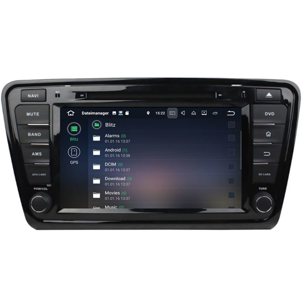 skoda octavia 2013 android 8 autoradio touchscreen dvd gps. Black Bedroom Furniture Sets. Home Design Ideas