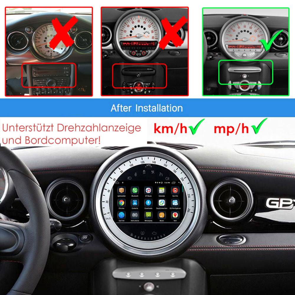 mini cooper s one r55 r56 r57 android touchscreen. Black Bedroom Furniture Sets. Home Design Ideas